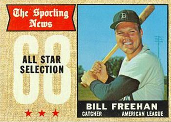 Bill Freehan 1968 Topps Sporting News All Star card