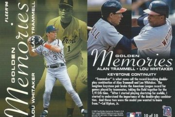 Alan Trammell & Lou Whitaker 1996 Fleer Golden Memories card