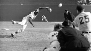 Bob Gibson pitches to Norm Cash in 1968 World Series