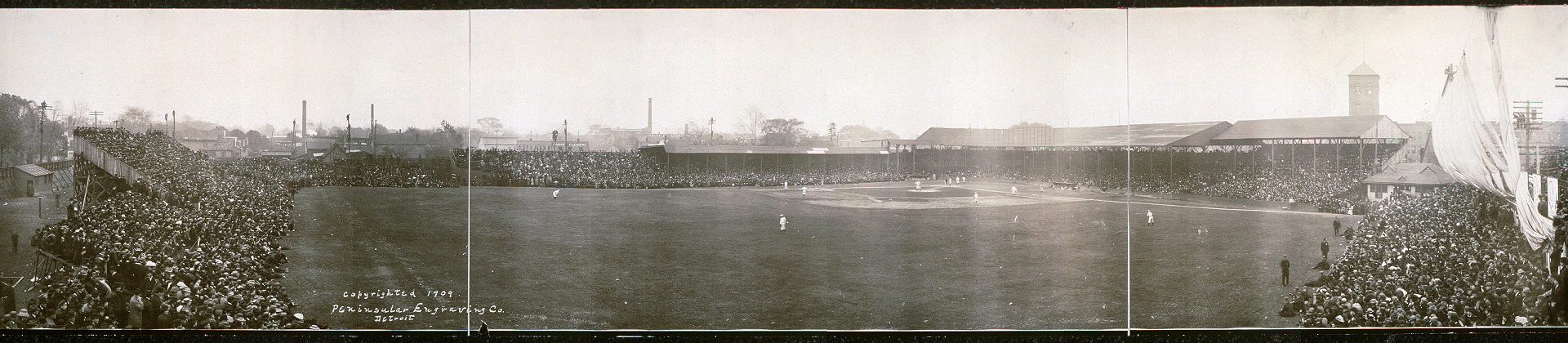 Bennett Park at Michigan & Trumbull, October 11, 1909