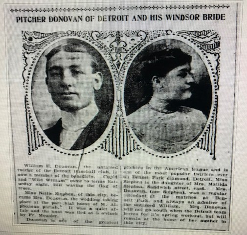 Windsor Star clipping of Donovan wedding
