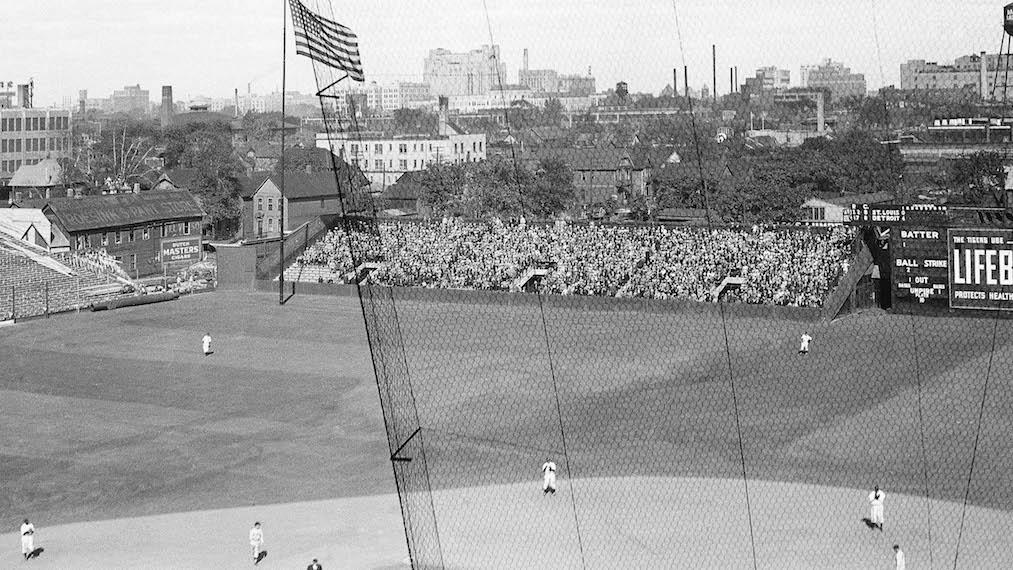 Navin Field outfield, 1935
