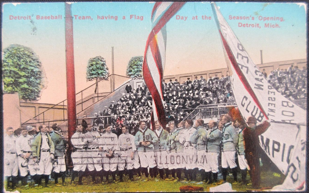 Navin Field Opening Day postcard
